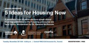 "Toronto, November 20: ""Under Pressure: 5 Ideas for Housing Now"""