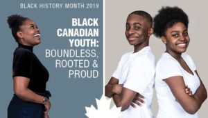 """Images of three Black youth with the text """"Black Canadian Youth: Boundless, Rooted, and Proud"""""""