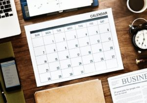 Upcoming events and deadlines