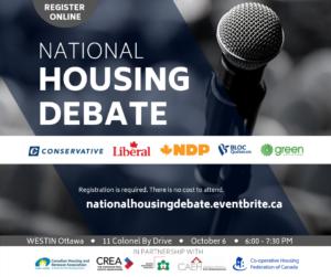 National Housing Debate, October 6