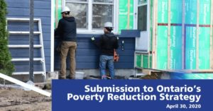 Submission to Ontario's Poverty Reduction Strategy
