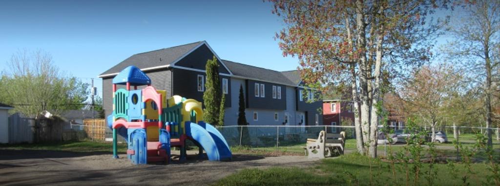 Children's playground in Cornerstone Housing Co-op, Moncton, NB