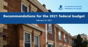 CHF Canada's federal budget recommendations highlight the need for more co-op housing